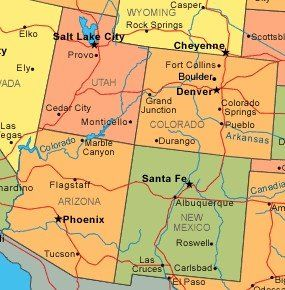 Map Of Arizona Only.Visit The Four Corners The Four Corners Is The Only Place In The