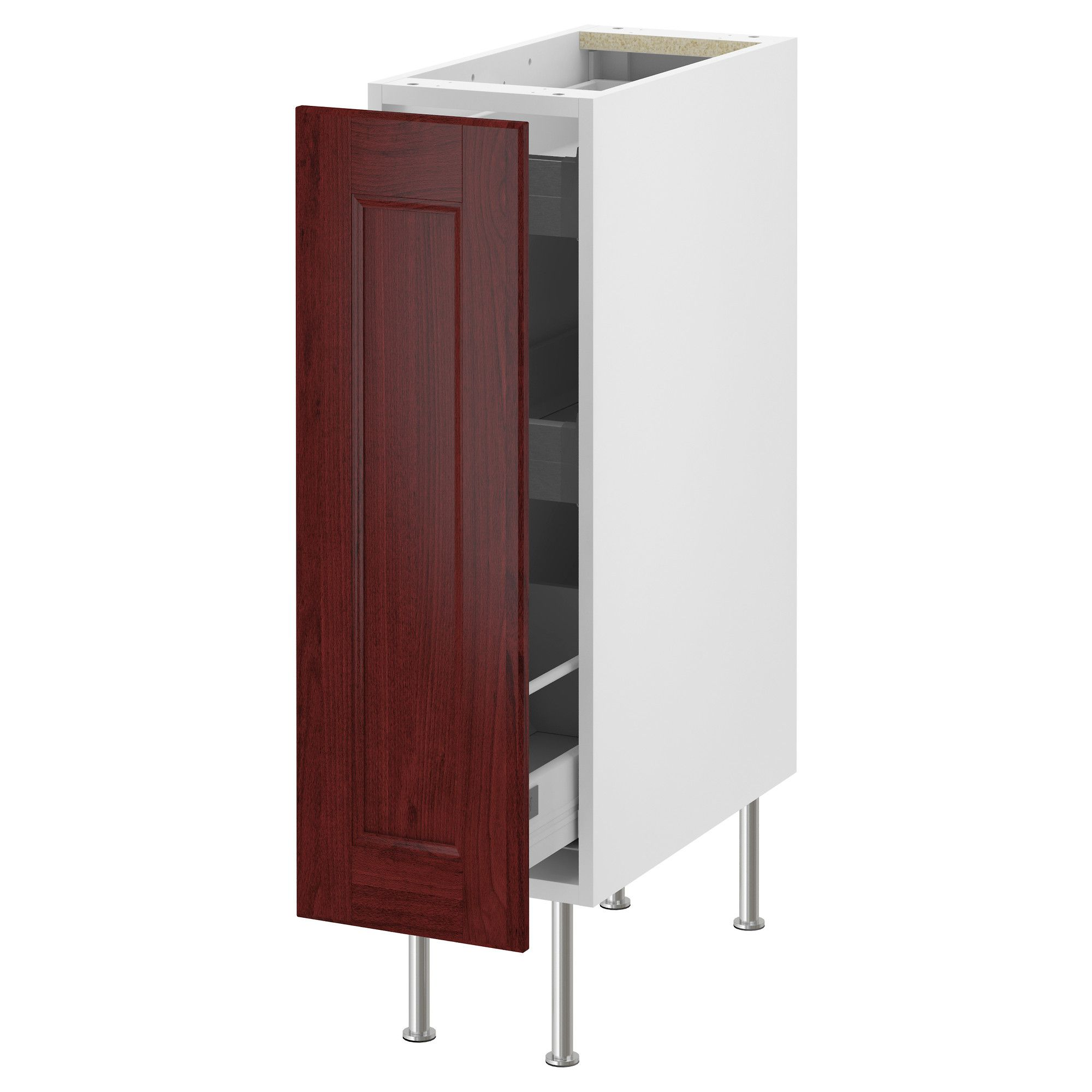 Cookie Sheets Or Trash Can AKURUM Base Cabinet With Pull Out Storage    White,