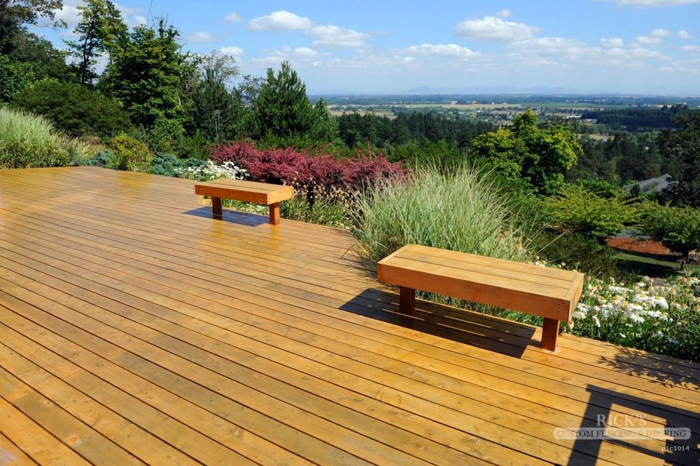 Port Orford Cedar Deck With A Beautiful View Deck Staining Deck Cedar Deck