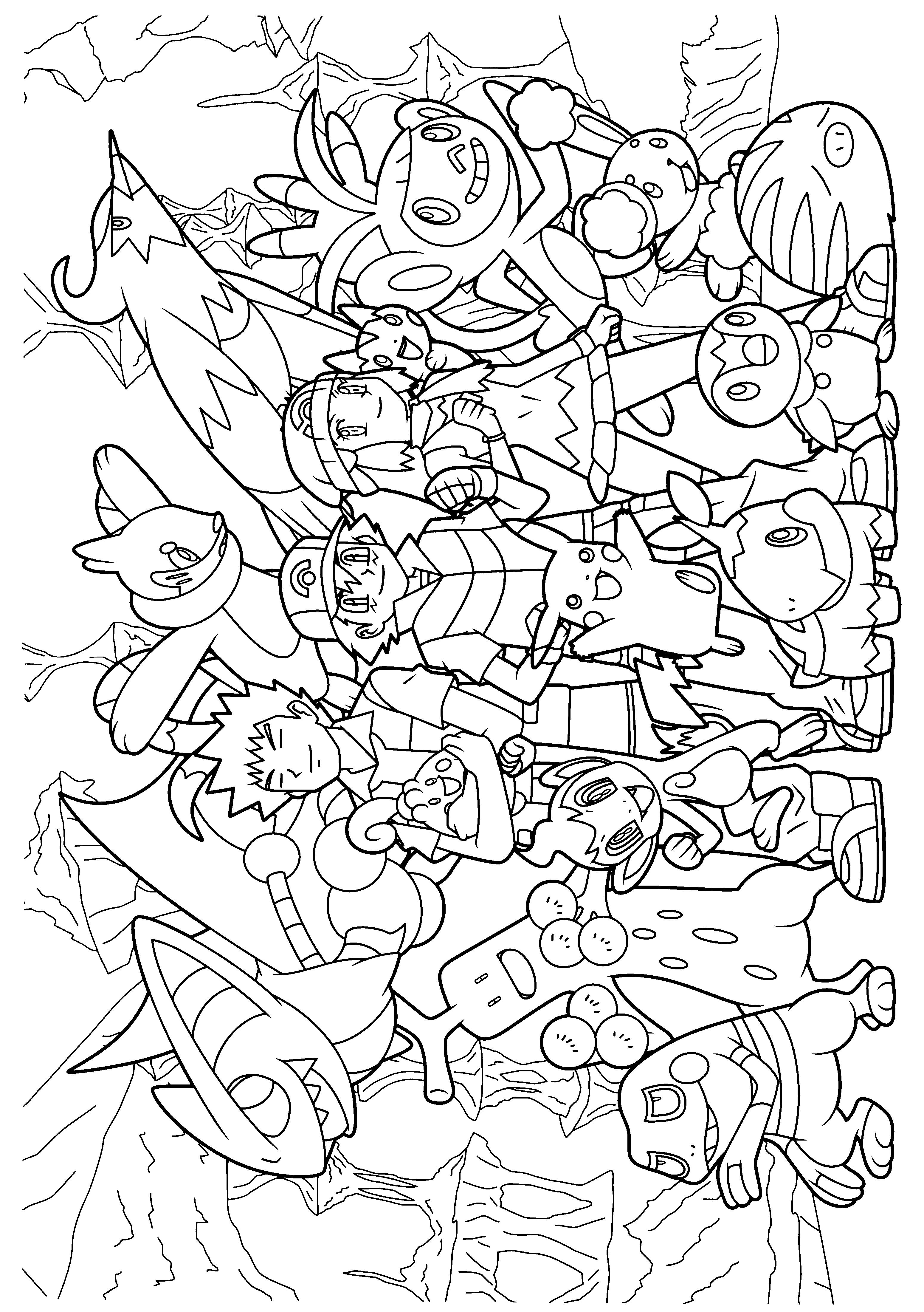 pokemon diamond pearl coloring pages | ぬりえ | ぬり絵, ポケモン, 塗り絵
