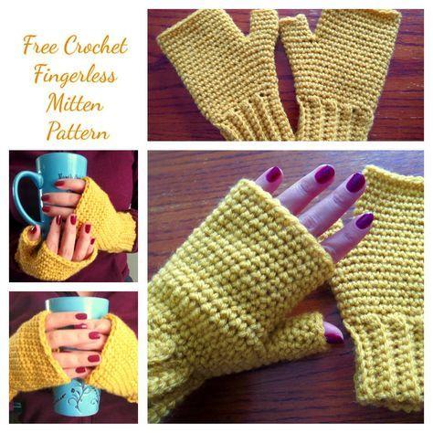 Free Pattern Easy Fingerless Crochet Gloves Crochet Gloves Leg