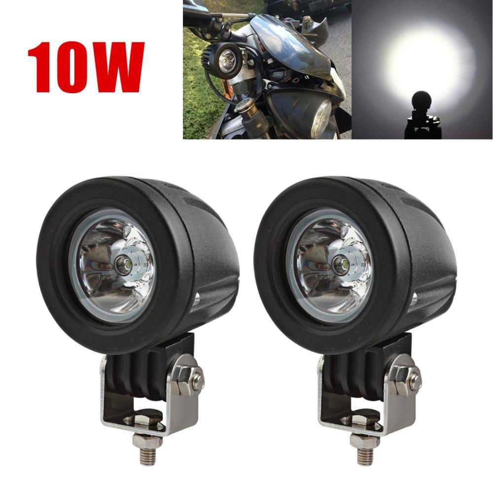 Motorcycle Driving Light 10W LED Off Road Fog Lamp Spot Lights Work lights