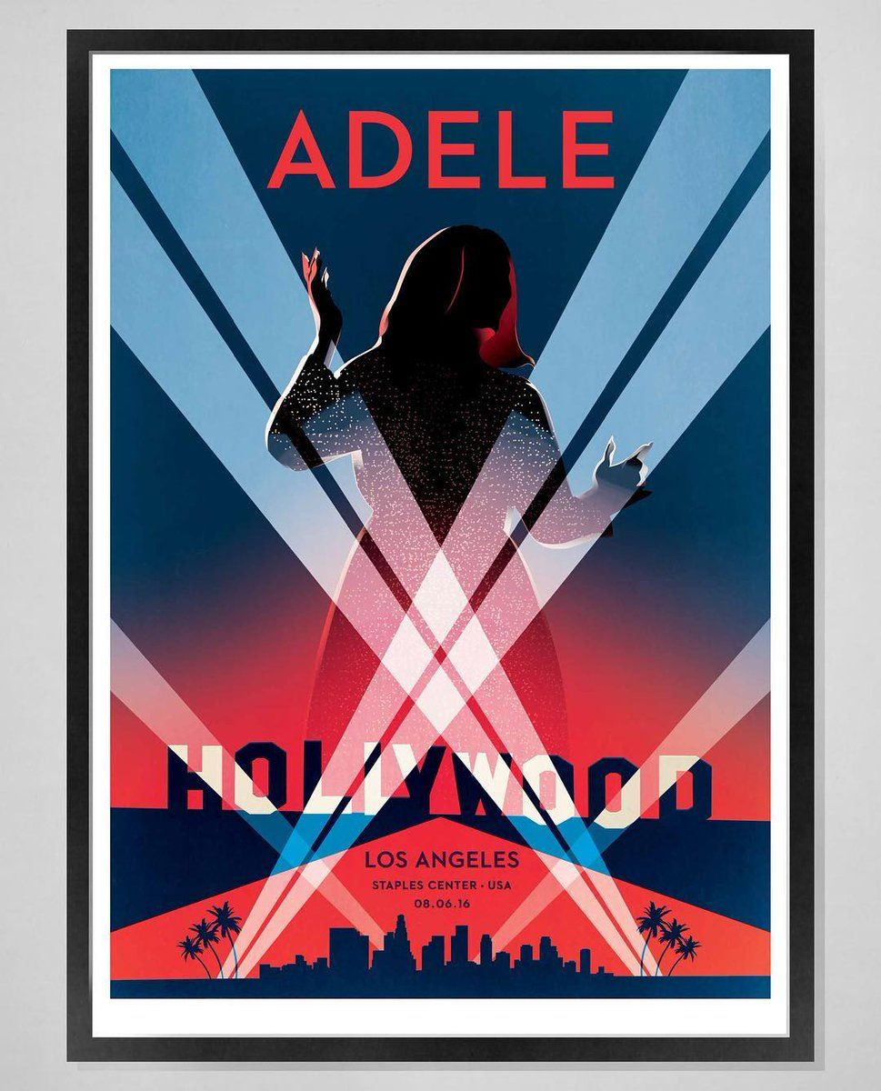 Adele Performing At Staples Center Los Angeles Ca Aug 06 Poster Adele Adele Concert Adele Tour