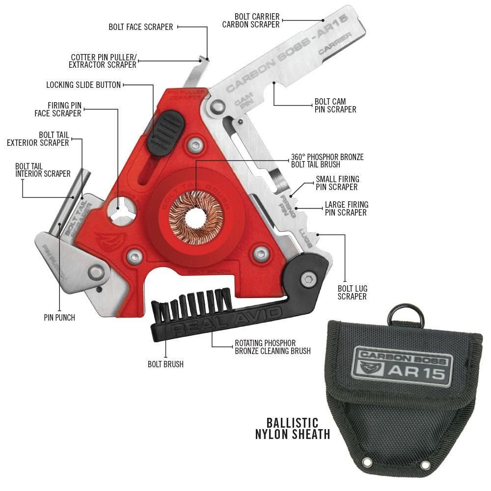 real avid ar 15 multi tool a must have for ar owners includes bcg cleaning tool carbon removal tool pin punch cotter pin puller 12 precision scraping  [ 1000 x 1000 Pixel ]
