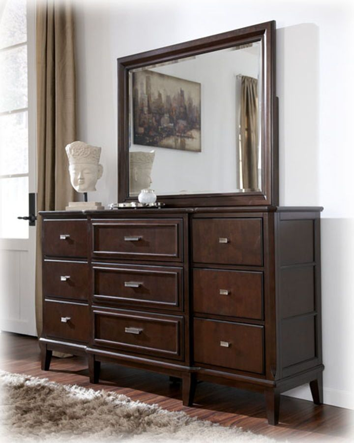 vintage dark round brown wooden small dresser grey look drawers up black mirror by on of added stainless for making with wall rectangle