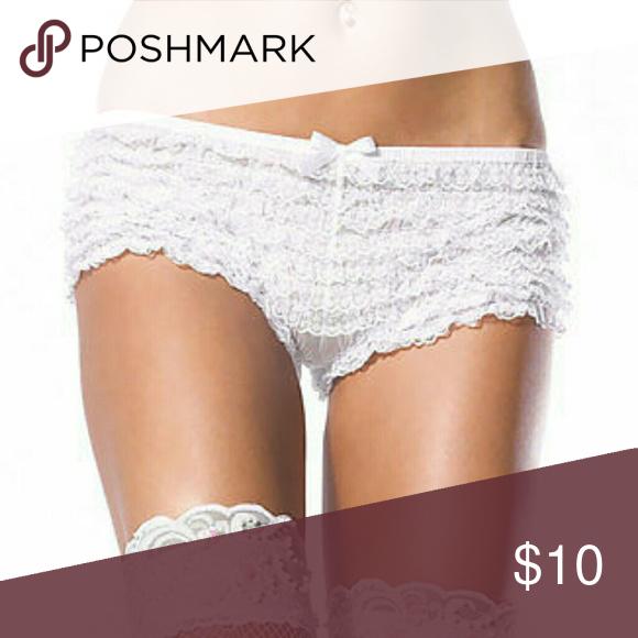 aec8e8693bdb Plus Size Micromesh Lace Ruffle Tanga Shorts 80%nylon 20% spandex Intimates  & Sleepwear Panties