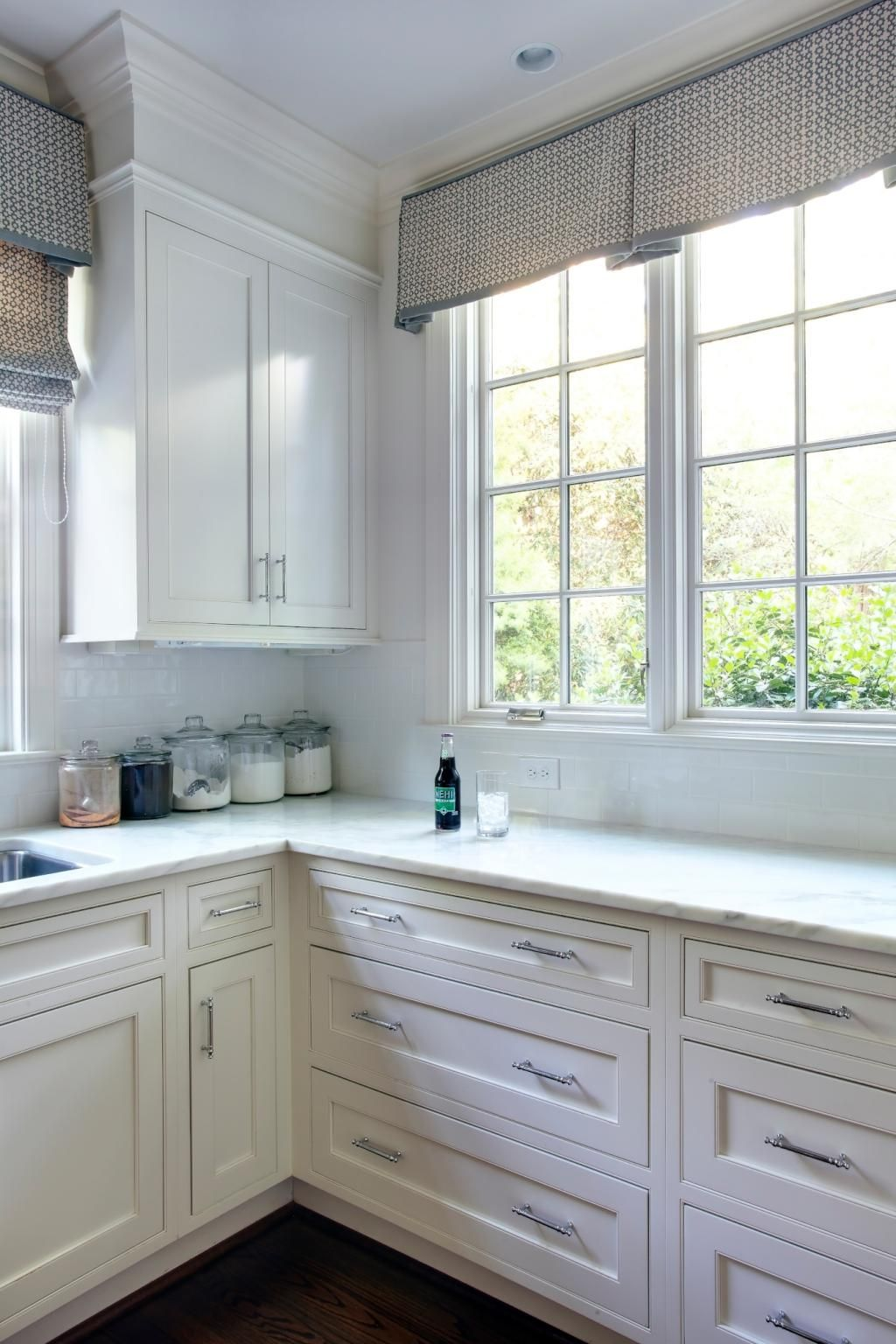 kitchen inspiration white marble cabinetry lots of windows kitchen window treatments on kitchen interior with window id=49567