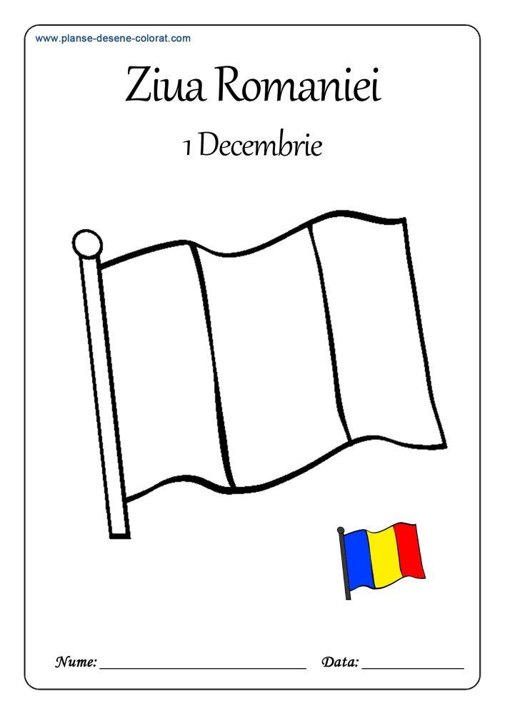 Ziua Romaniei Planse De Colorat Si Educative Coloring