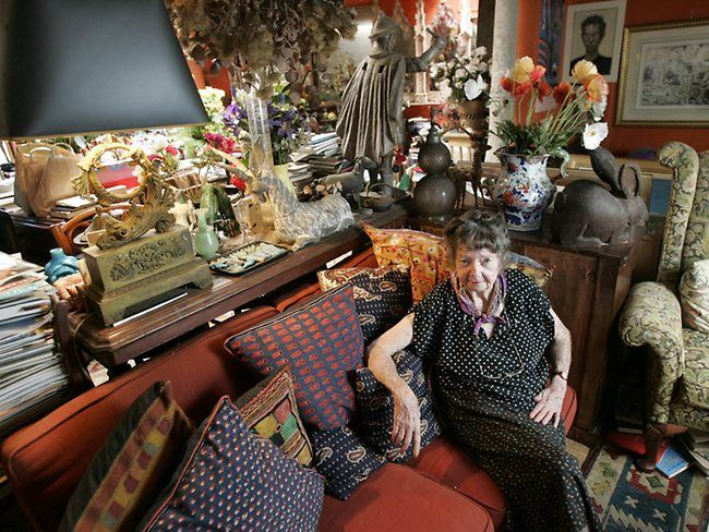 The fabulous and eclectic artist Margaret Olley who sadly passed this week.