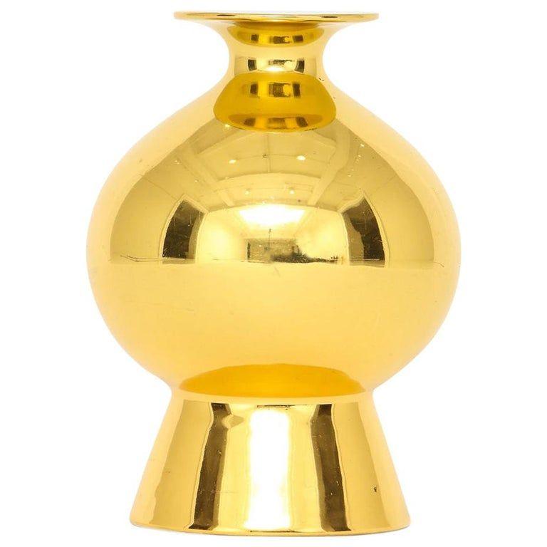 Gerold Porzellan Vase - Metallic Signed German Mid-Century Modern Porcelain