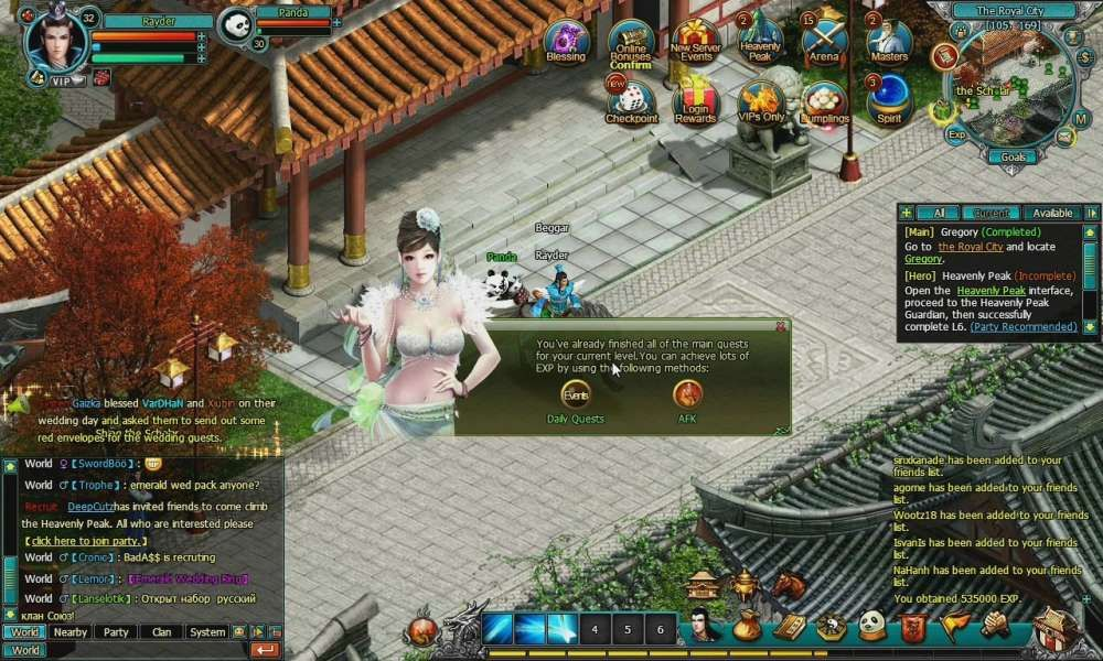 Adult massive multiplayer online