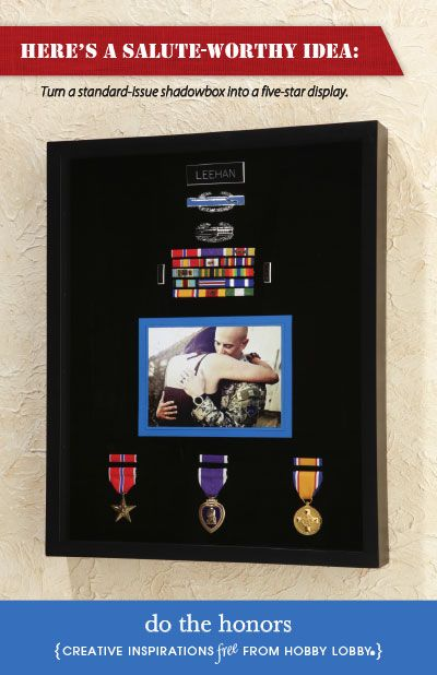 Do The Honors Shadow Box Military Shadow Box Military Retirement Gift