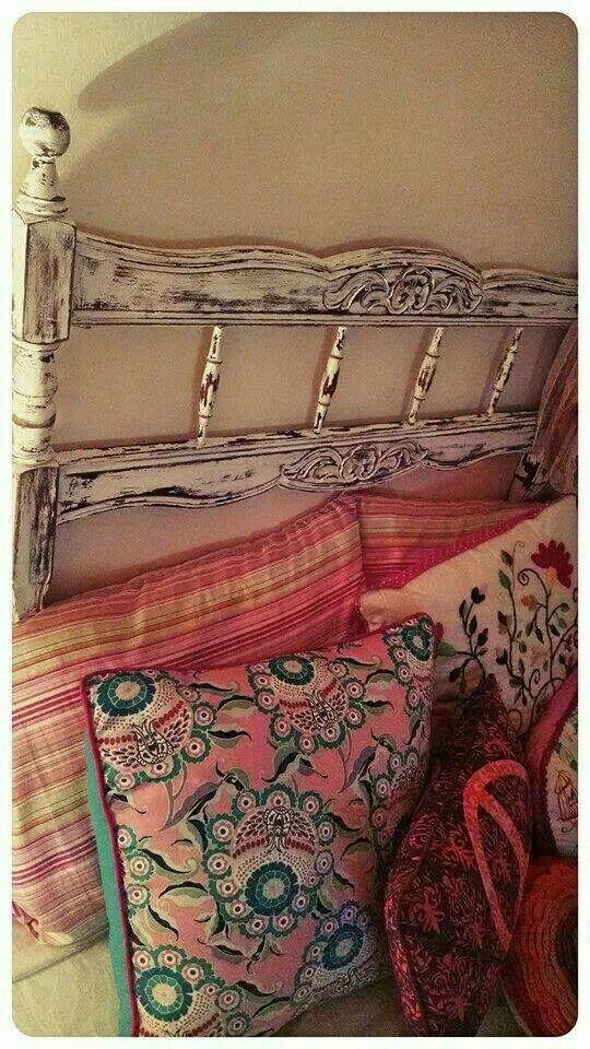 Respaldo de cama provenzal | Camas | Pinterest | Respaldos de cama ...