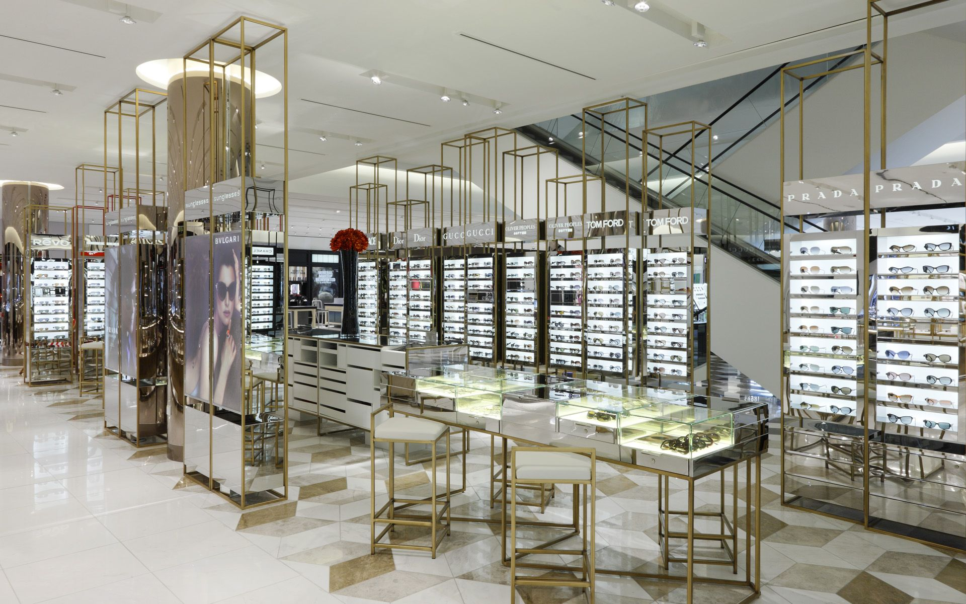 Harrods beauty department google search department for Retail interior design agency london