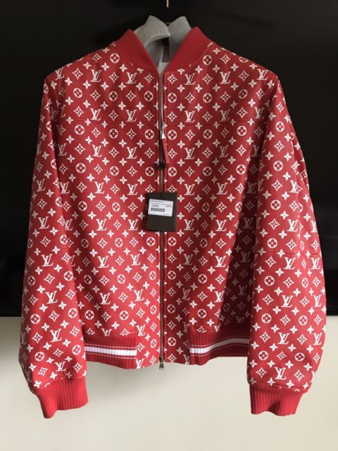 Louis Vuitton Monogram Red Leather Er Jacket 10 500 Http Www Com Itm Supreme
