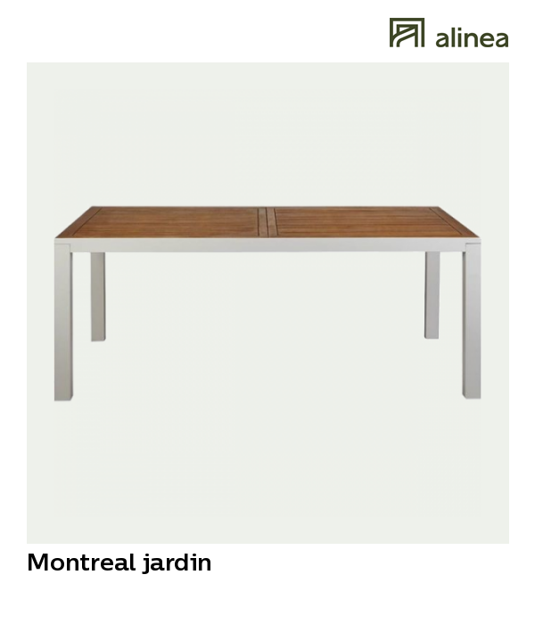 table de jardin alu alinea