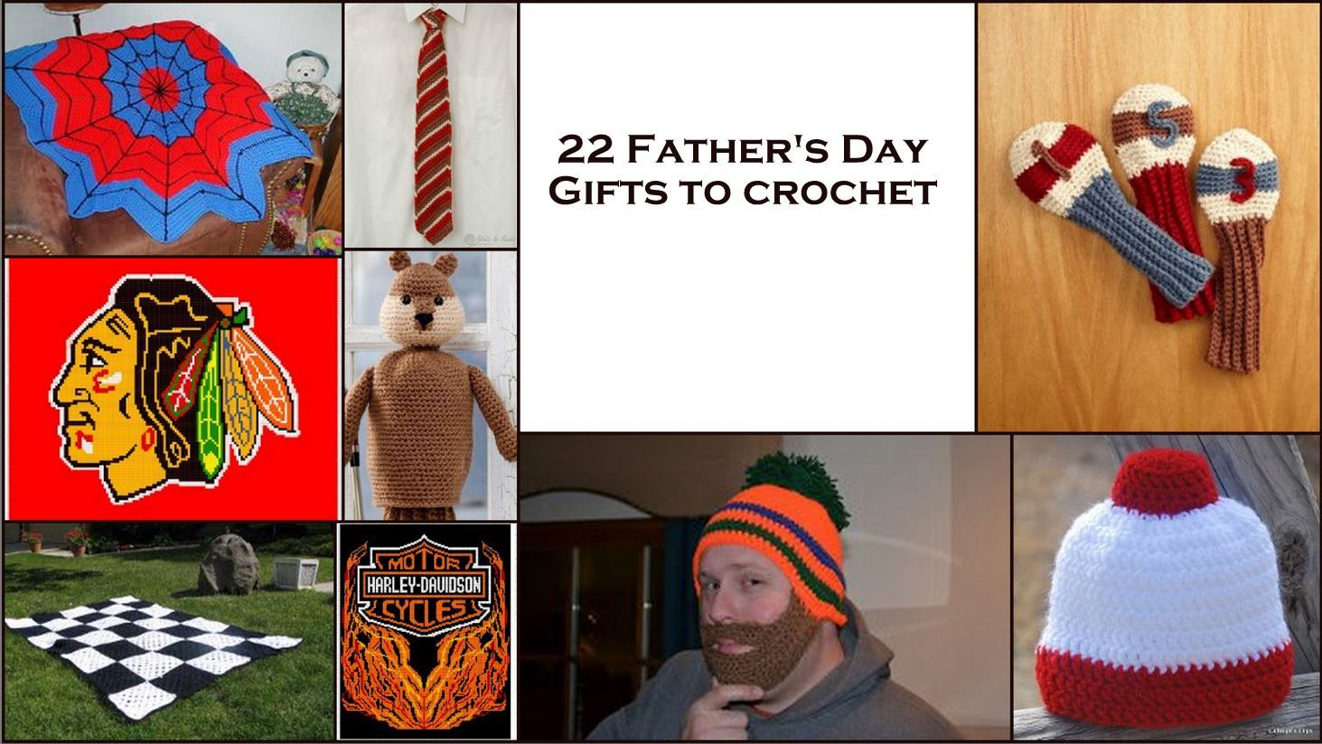 Craft for fathers day 22 free homemade gifts to crochet