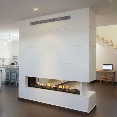 Chimeneas de gas hogar dise o moderno chimeneas y - Chimeneas de diseno ...