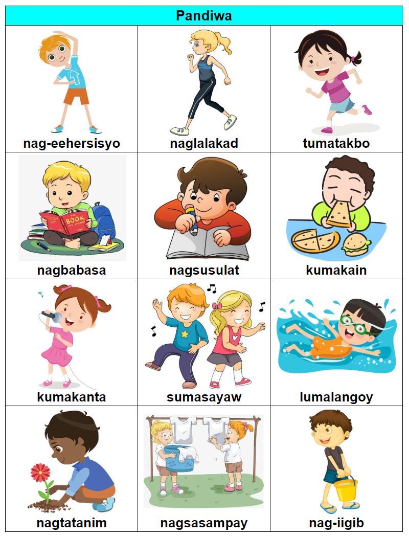 medium resolution of Pandiwa (verb)   1st grade reading worksheets