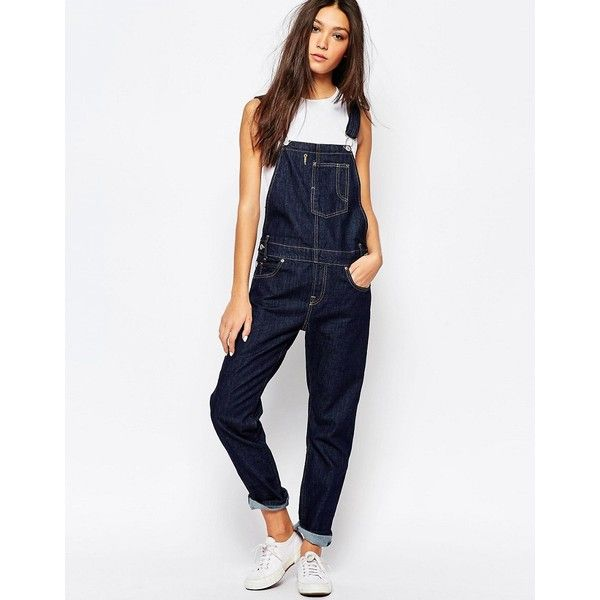 a3be860707d Levis Denim Dungaree Overalls (£100) ❤ liked on Polyvore featuring jumpsuits