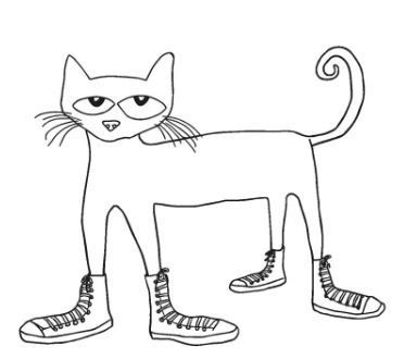 pete the cat sneaker coloring page coloring board pinterest