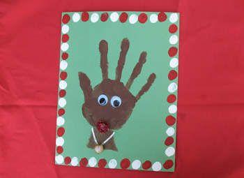 Handprint Rudolph   Fun Family Crafts