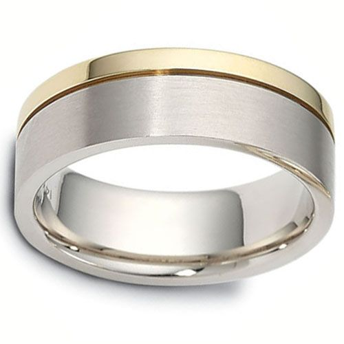 7 50 Mm 14k Two Tone Dora Gold Wedding Band At Goldenmine Com Free Shipping Over 100 Gold Wedding Band Fine Gold Jewelry Wedding Bands