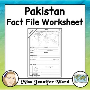 This Worksheet Asks Students To Locate Information About Pakistan It Could Be India Facts Geography Lessons China Facts 9th grade geography worksheets