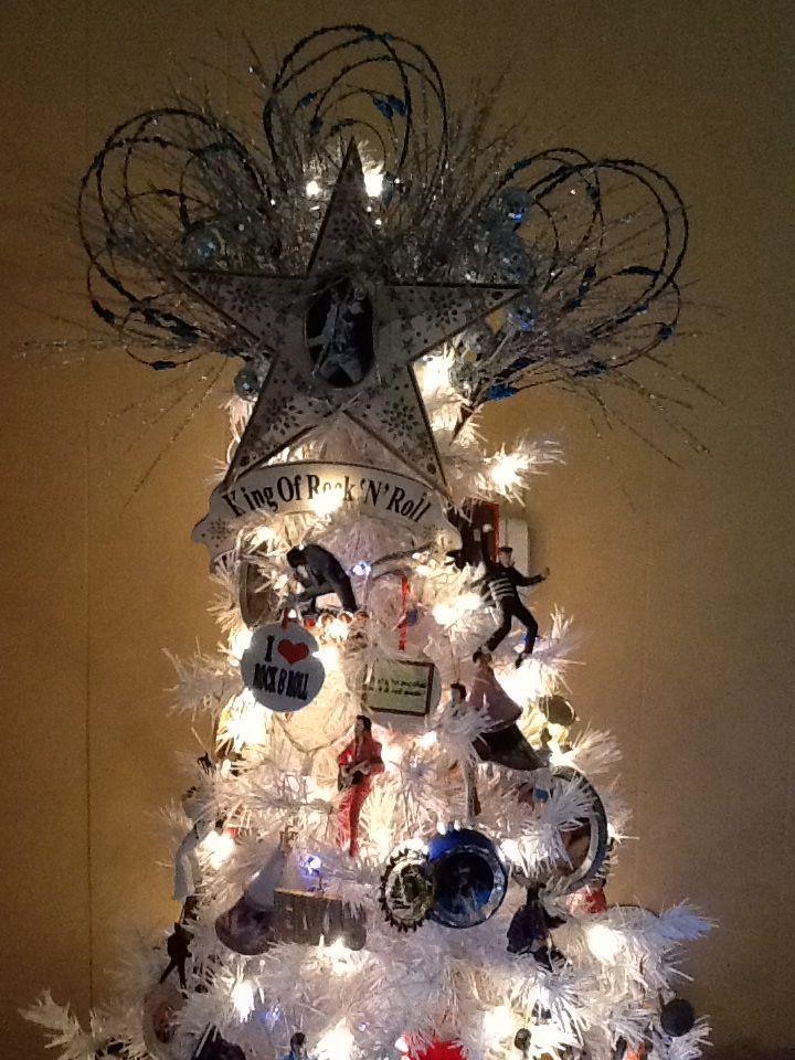 Rock and roll tree Yuletide, Hanukkah wreath, Christmas