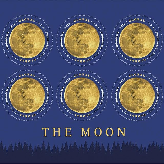 #ICYMI we're moonstruck over the new Global Forever stamp! Available now in Post Offices or at usps.com. #USPS #postalservice #stamps