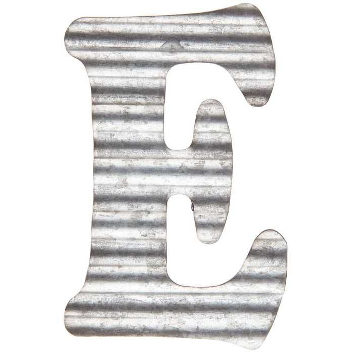 Corrugated Metal Letter Wall Decor E Metal Letter Wall Decor