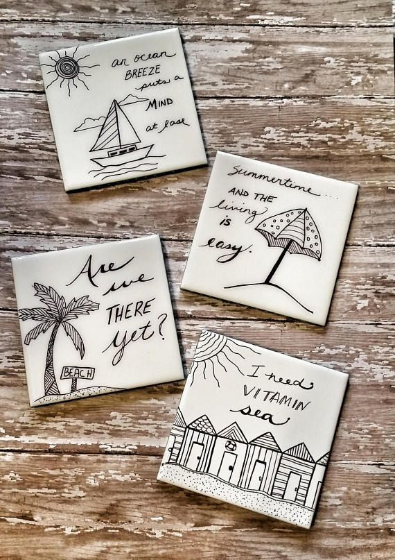 Decorative Tile Coasters Brilliant Drink Coasters Table Coasters Ceramic Coasters Beach Coasters Design Decoration