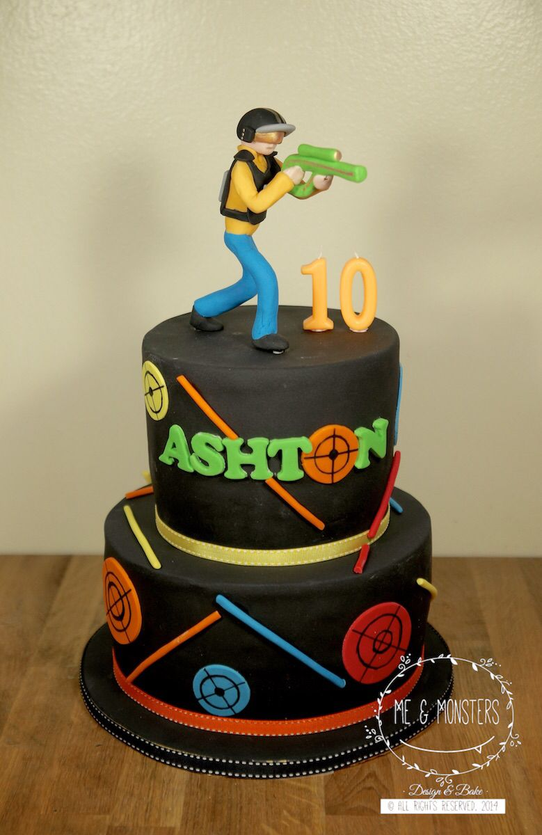 Laser Tag Theme Party Cakes Pinterest Laser Tag Birthday