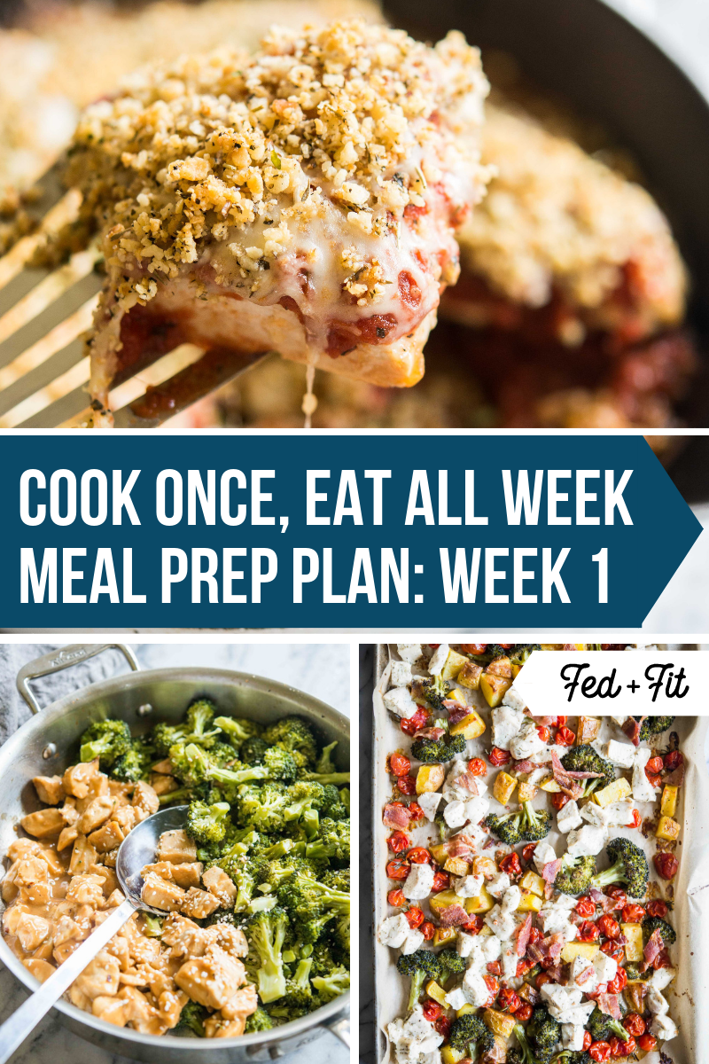 5-Day Gluten Free Meal Prep Plan and Shopping List | Fed & Fit #mealprepplans