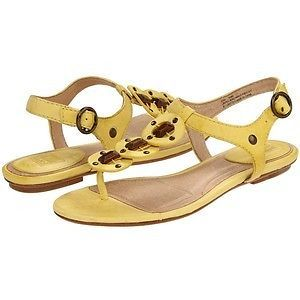 Frye Sandals Lauren King Ankle Yellow and Brown Beaded Ankle Strap Sz 8M   eBay