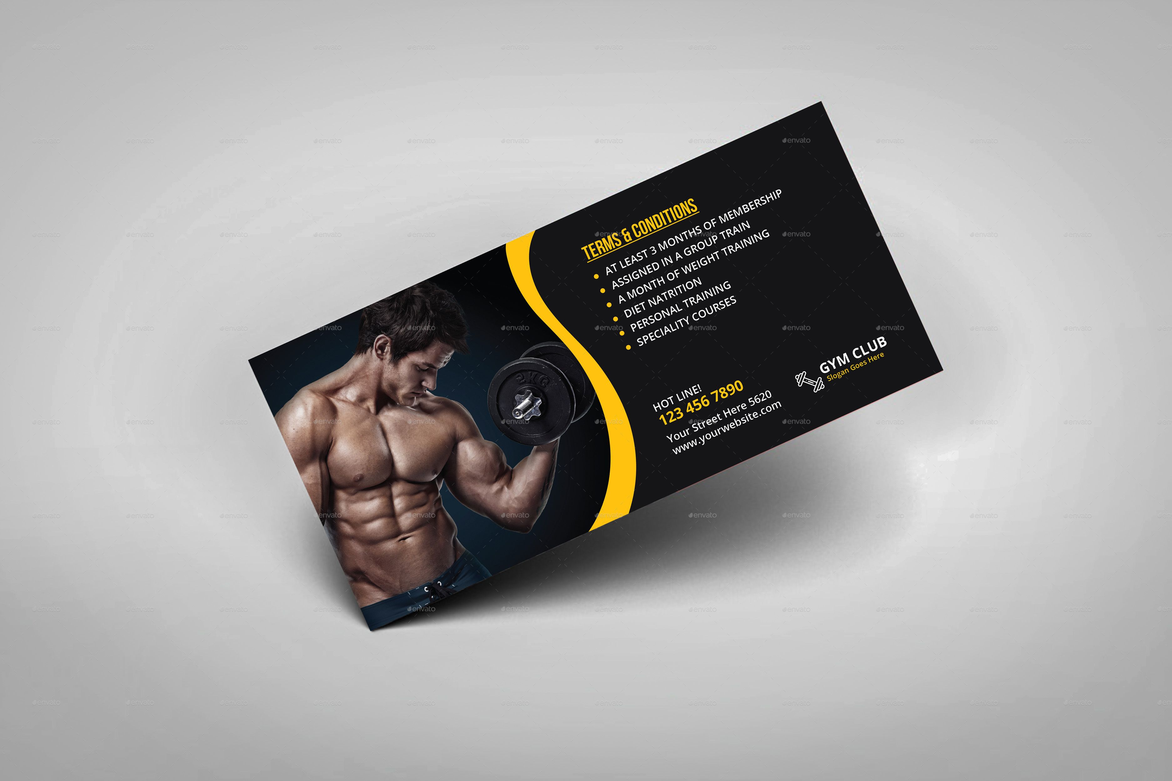 Fitness Gym Gift Voucher Template Gift Vouchers Gym Gifts Gifts