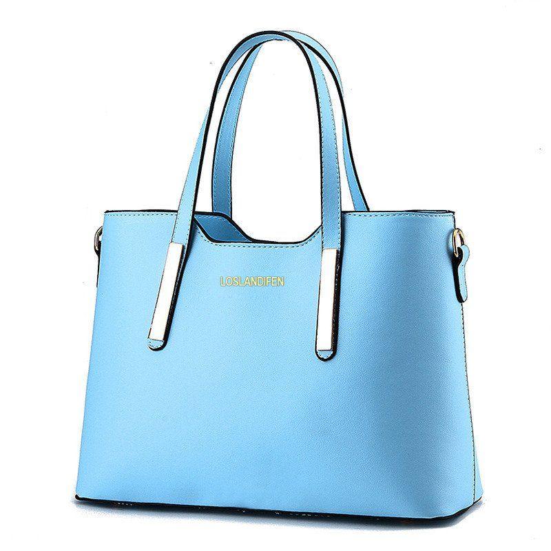 new Fashion leather bag ladies tote Shoulder bag handbags women brands waterproof folding women's messenger bags shoulder 806bag