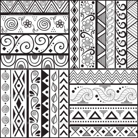1000 Images About Simple Designs And Patterns On Pinterest In Cool Background Designs To Draw Easy Pattern Design Drawing Doodle Patterns Pattern Art