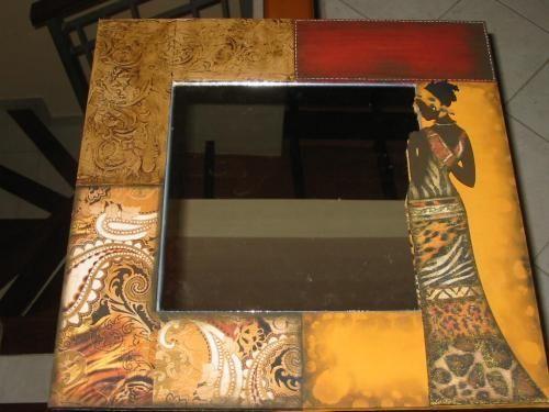 Fotos de vendo espejos con marcos decorados asunci n for Disenos de marcos de madera para espejos