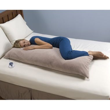 The Only Low Voltage Heated Body Pillow Hammacher Schlemmer