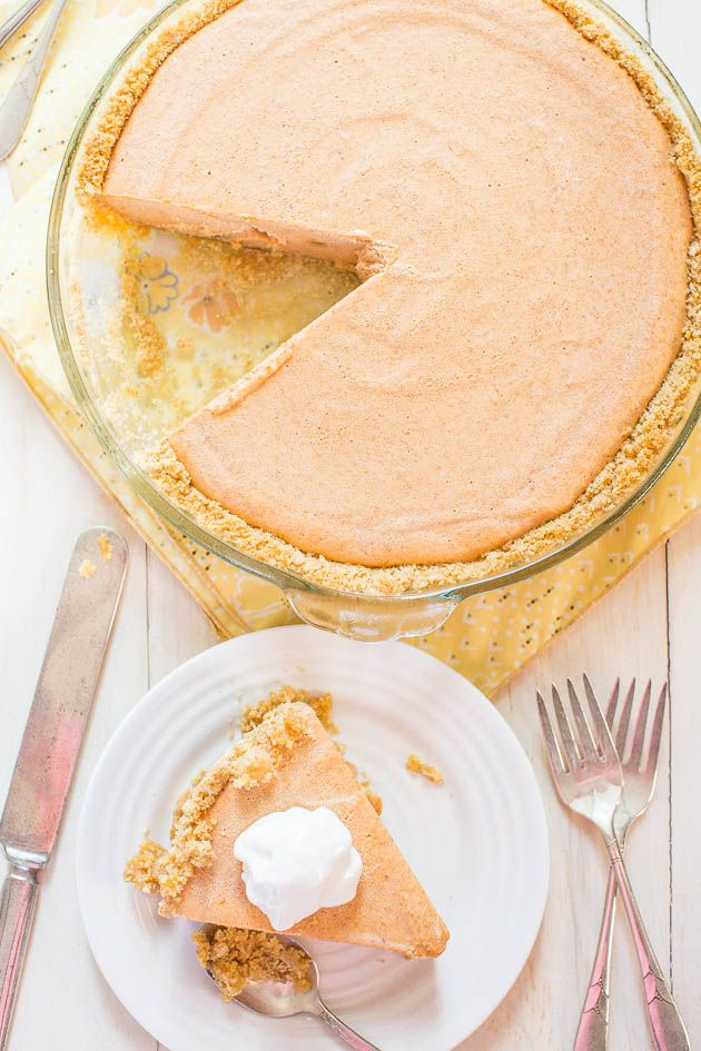 Pumpkin Ice Cream Pie - The easiest pumpkin pie you'll ever make! Put it on your Thanksgiving menu and save yourself pie-making stress!!