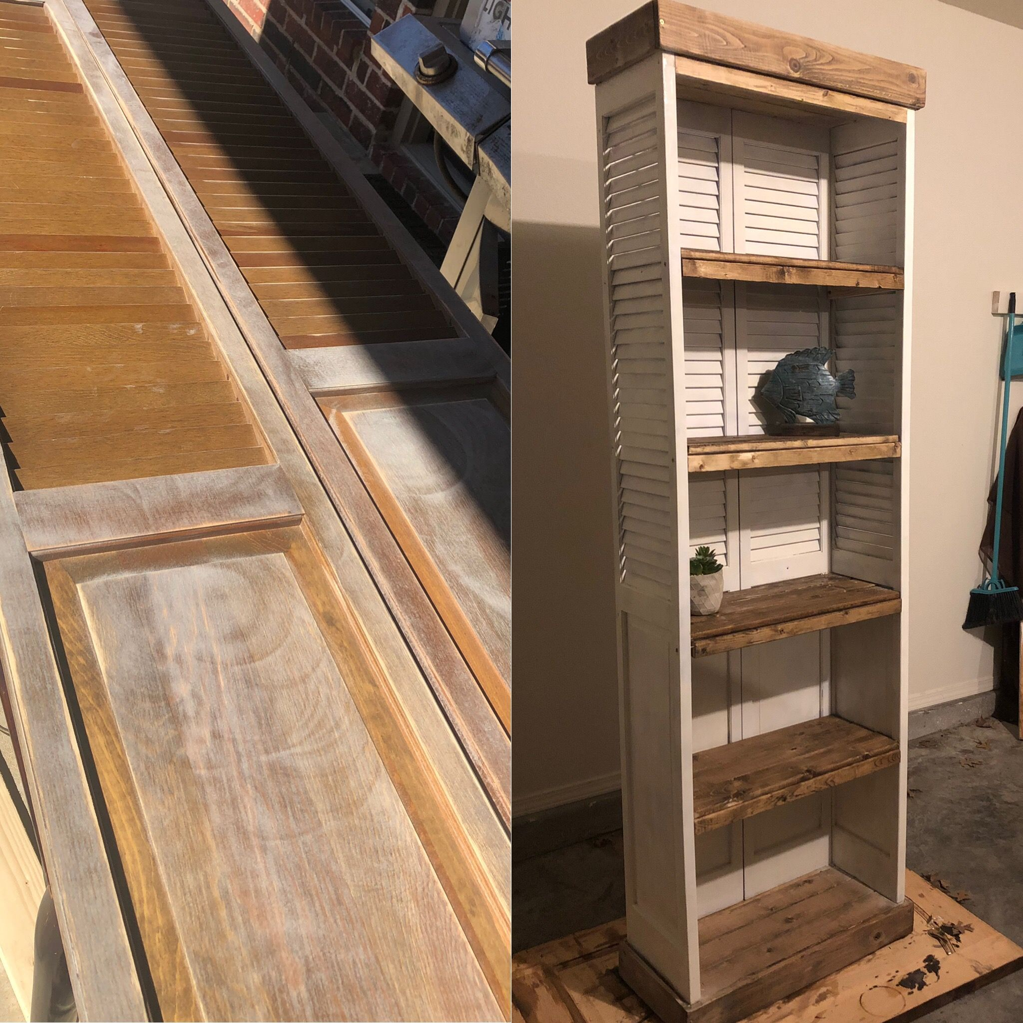 Old Closet Doors I Turned Into Bookcases Old Closet Doors Furniture Projects Closet Doors