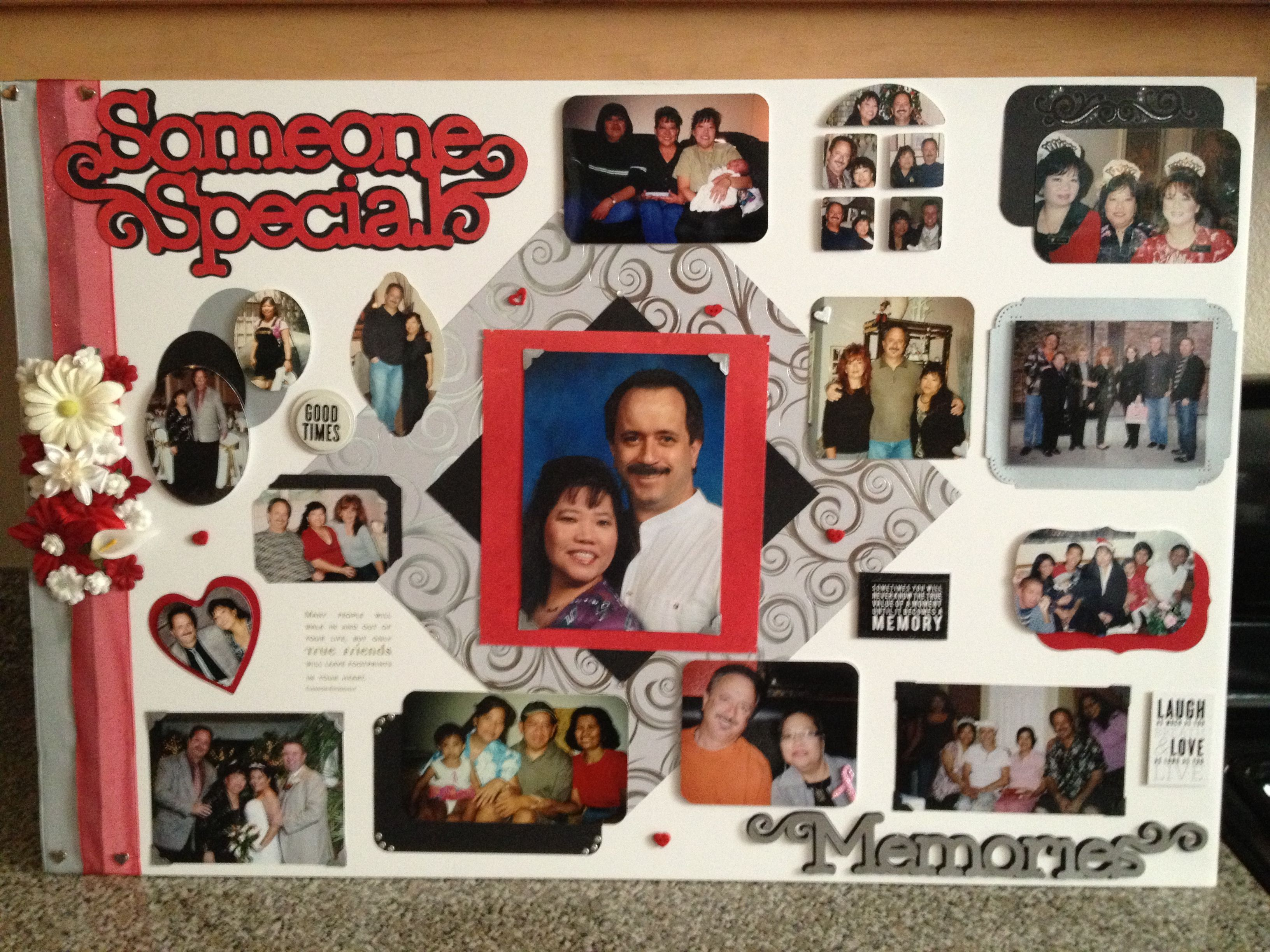 This is a memorial board for my aunt that I did for her funeral