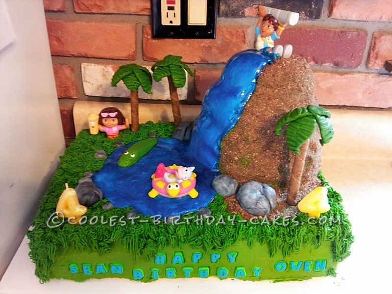 Coolest Diego And Dora Birthday Cake For 4 Year Old Twins Dora