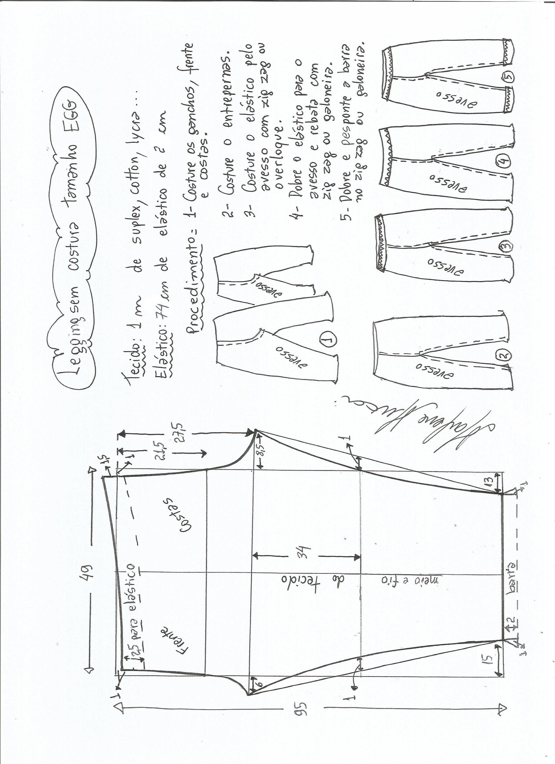 Patrón de legging sin costura lateral | Pinterest | Pantalones ...