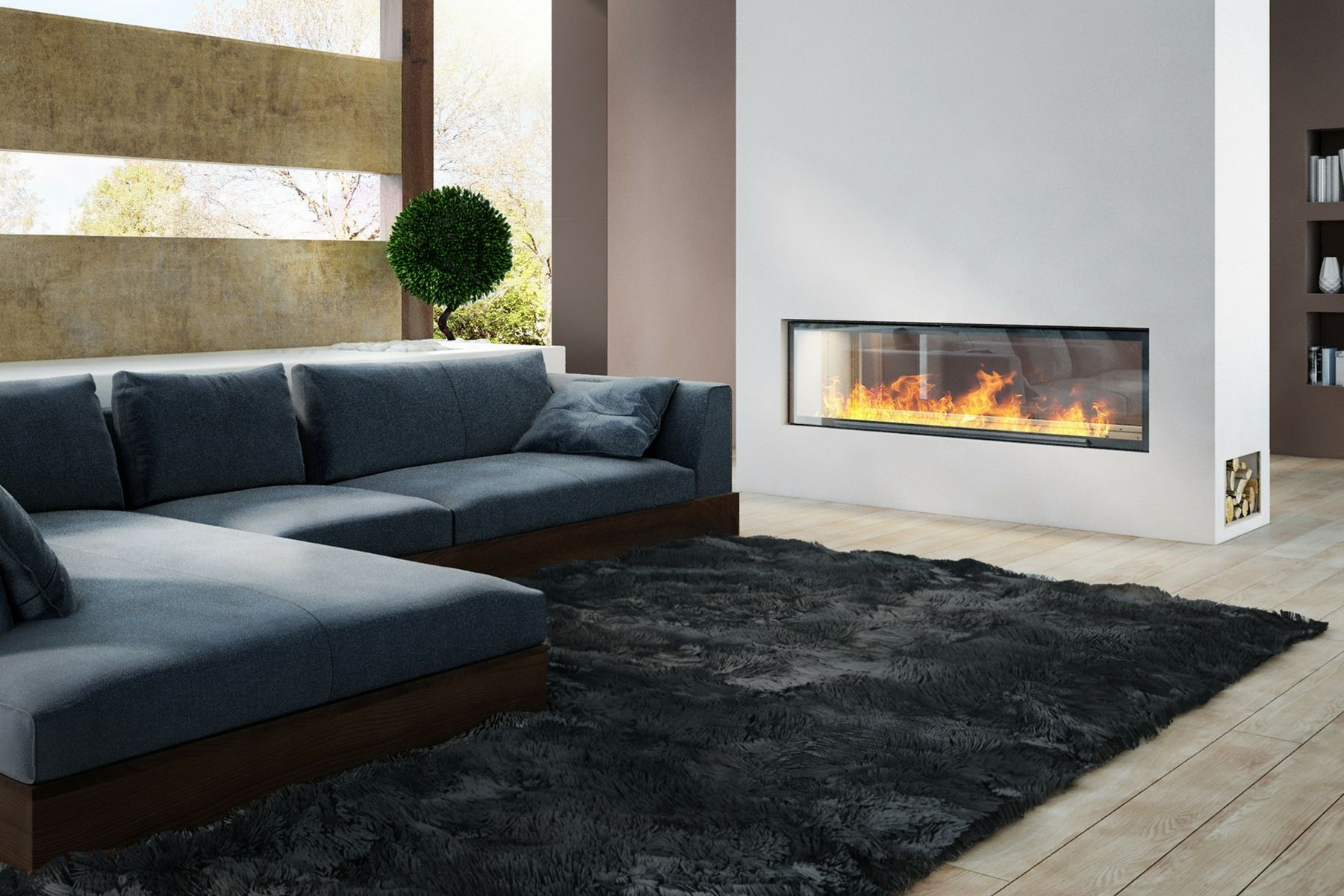 axis h1600xxl double sided wood burning fireplace axis fireplaces