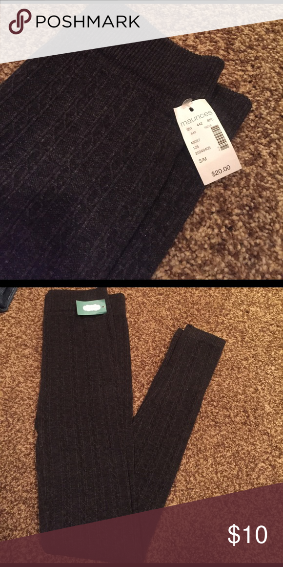 Leggings Maurice's dark gray leggings. Brand new!! Maurices Pants Leggings