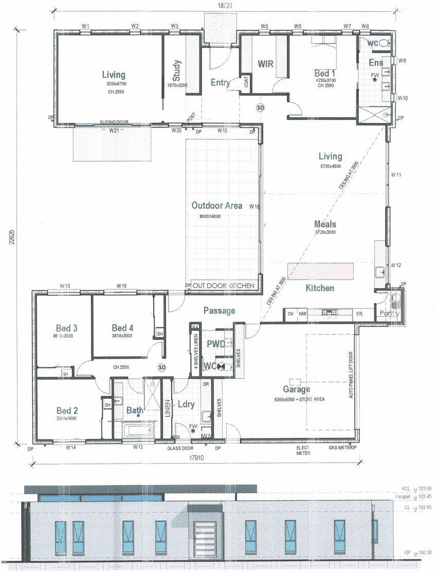 Floor Plan Friday Modern Facade On A Corner Block Floor Plans Duplex Floor Plans House Floor Plans