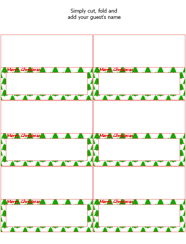 FREE Printable Christmas Place Cards - Holiday Party Favors at Kid ...