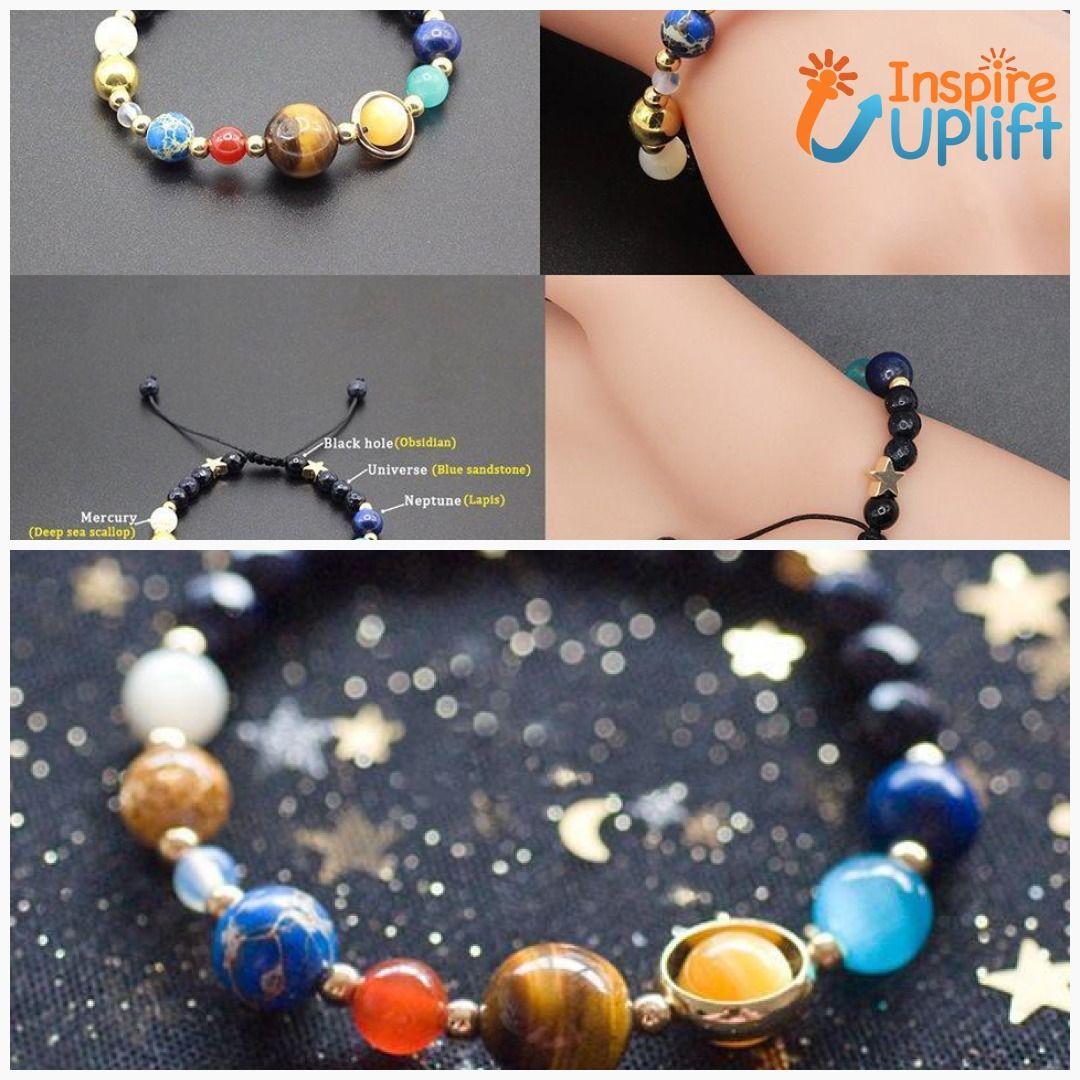 Solar System Space Bracelet inspireuplift BlueSandstone